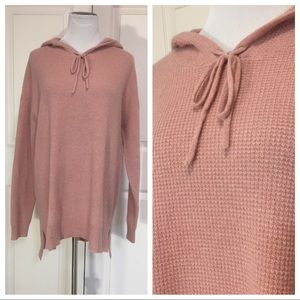 New Cashmere Charter Club waffle knit hoody